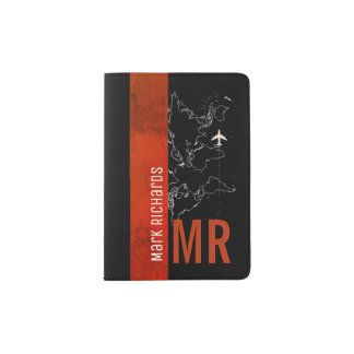 for the classy traveler a stylish red-colored passport holder