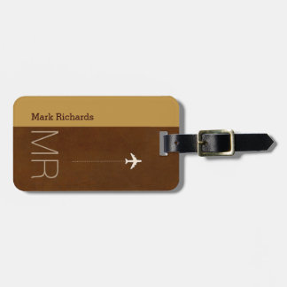 for the classy traveler an elegant brownish luggage tag