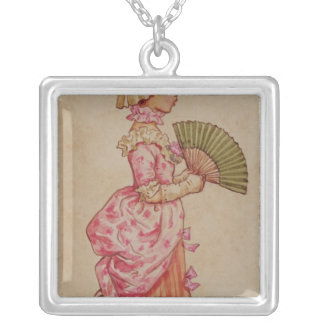 For the Dance, one of a set of 12 illustrations Silver Plated Necklace