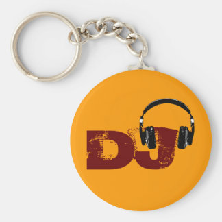for the DJ Basic Round Button Key Ring