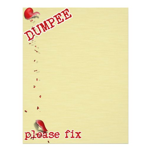 For the Dumpee.... 21.5 Cm X 28 Cm Flyer