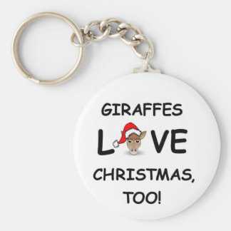 For the GIRAFFE collector for Christmas! Basic Round Button Key Ring