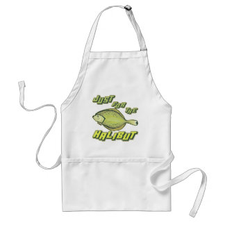 For The Halibut Fishing T-shirts and Gifts Standard Apron