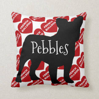 For the Love of a French Bulldog Dog Cushion