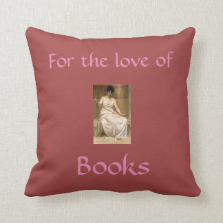 For the Love of Books Throw Pillow