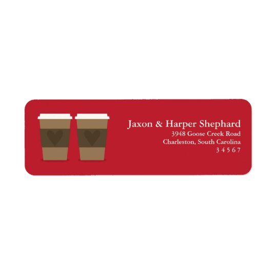 For the Love of Coffee Return Address Label