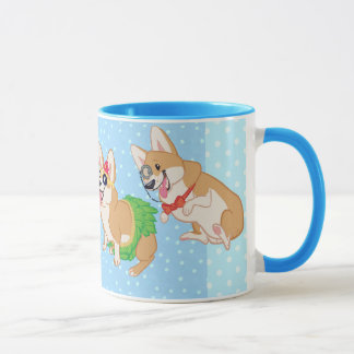 For the love of corgis ringer mug