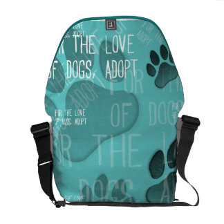 For the love of dogs, adopt - Rickshaw Messenger B Commuter Bags