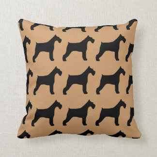 For the Love of Giant Schnauzers Throw Cushions