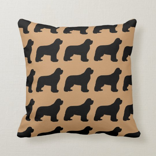 For the Love of Newfoundlands Throw Pillow