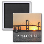 For the Love of Rhode Island Square Magnet