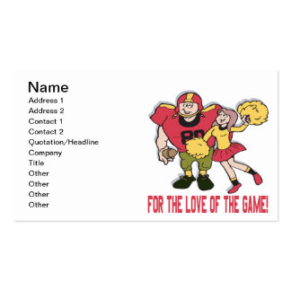 For The Love Of The Game Pack Of Standard Business Cards