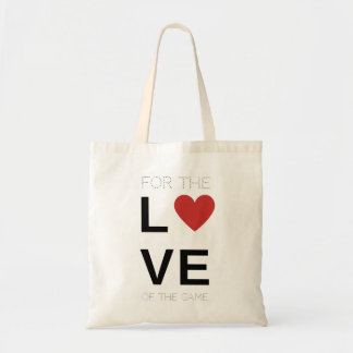 For the love of the game softball bag, red heart budget tote bag