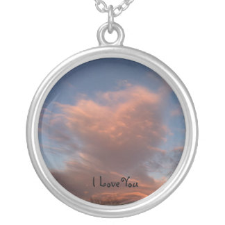 For the love of you round pendant necklace
