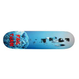 For the Model Fger Storm in glass of to water - Fa Custom Skateboard