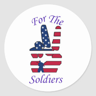For the Soldiers Classic Round Sticker