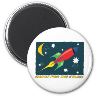 For The Stars! 6 Cm Round Magnet