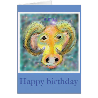for the taurus birthday card