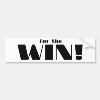 For The Win Bumper Stickers