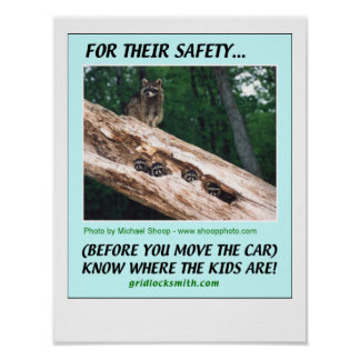 FOR THEIR SAFETY... KNOW WHERE THE KIDS ARE POSTER