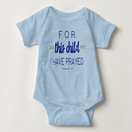 For this child I have prayed, Blue Font