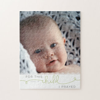 For this Child I Prayed - 1 Samuel 1:27 Jigsaw Puzzle