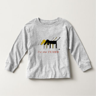 For to ever friends T-Shirt with little dog logo