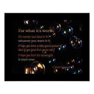 For what it's Worth Poster