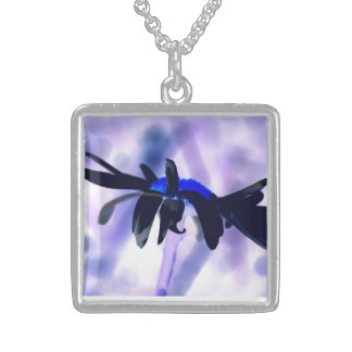 For when you are blue sterling silver necklace