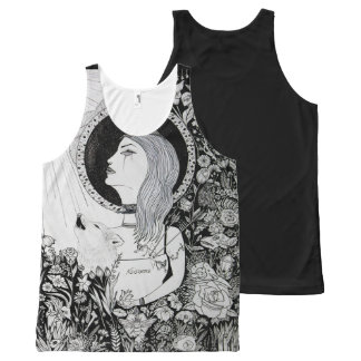 For Who Shall Be Saved - Ink Drawingdark arts girl All-Over Print Tank Top