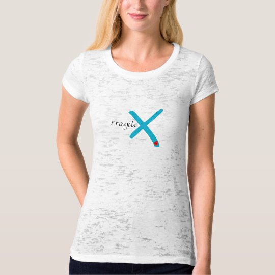 For Women - Vintage Fragile X Heart T-Shirt