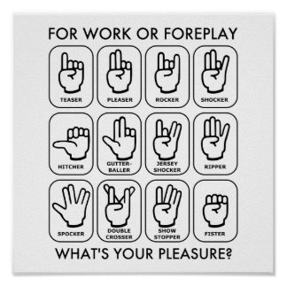 FOR WORK OR FOREPLAY (for lefties) Poster