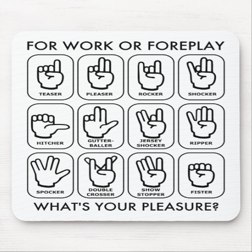 FOR WORK OR FOREPLAY (for righties) Mouse Pads