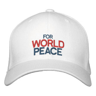 FOR WORLD PEACE Customisable Cap by eZaZZleMan.com Embroidered Baseball Cap
