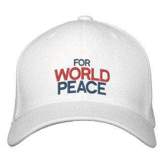 FOR WORLD PEACE Customizable Cap by eZaZZleMan.com Baseball Cap