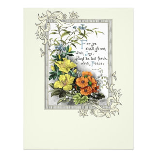 For Ye Shall Go Out With Joy 21.5 Cm X 28 Cm Flyer
