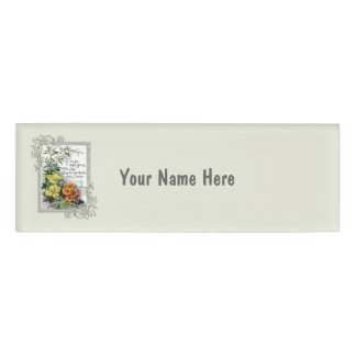 For Ye Shall Go Out With Joy Name Tag