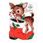 For You at Christmas Reindeer Post Card