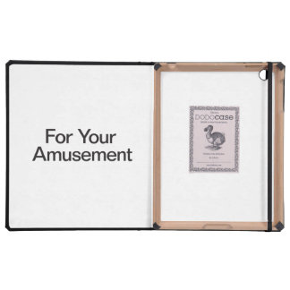For Your Amusement iPad Cover