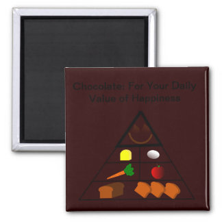 For Your Daily Value of Happiness Square Magnet