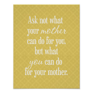 For Your Mother - Yellow Poster