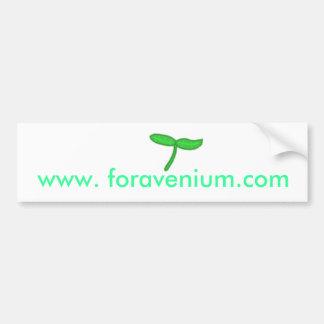 Foravenium Bumper Sticker Car Bumper Sticker