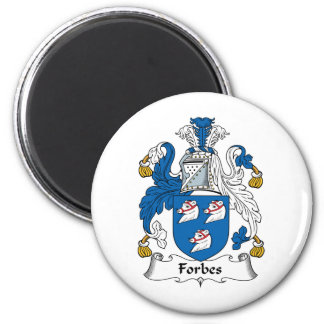 Forbes Family Crest 6 Cm Round Magnet