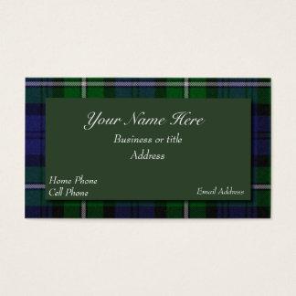 Forbes Scottish Tartan Plaid Business Card