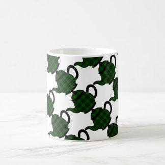 Forbes Tartan Plaid Teapots Basic White Mug