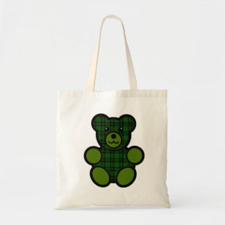Forbes Tartan Plaid Teddy Bear Tote Bag