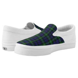 Forbes Tartan Plaid Zipz Slip On Shoe Printed Shoes