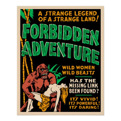 """Forbidden Adventure"" Vintage Jungle Poster"