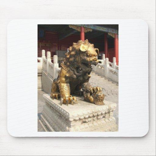 Forbidden City Bronze Lion Mouse Mats