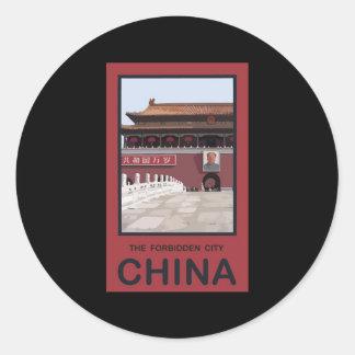 Forbidden City China Round Sticker